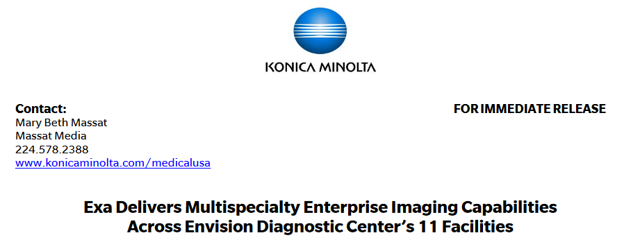 Exa Delivers Multispecialty Enterprise Imaging Capabilities Across Envision Diagnostic Center's 11 Facilities